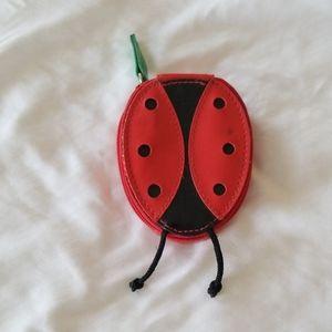 Small coin purse, ladybug